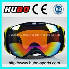 2014 fashion hot sale double lens snow ski goggles