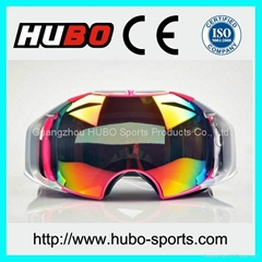 Adult fashion double lens anti fog custom snow ski goggles