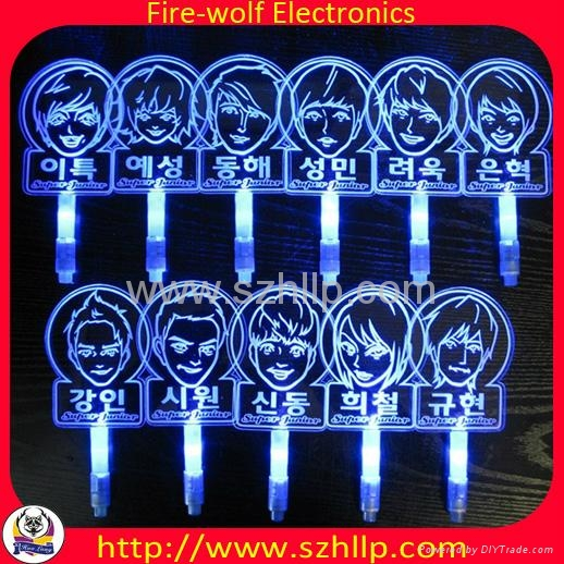 OEM LED Teen Top Glowing Stick EXO CNBLUE Concert Glowing Stick 3