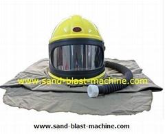 sand blast safety helmet