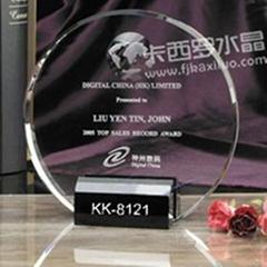 福州卡西羅水晶獎牌
