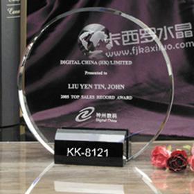 福州卡西罗水晶奖牌 1