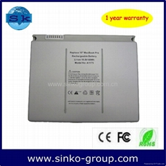 10.8V 5200mAh rechargeable battery pack for apple A1175 macbook Pro 15'' series