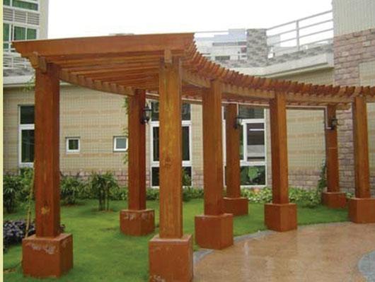 河北防腐木廊架 2
