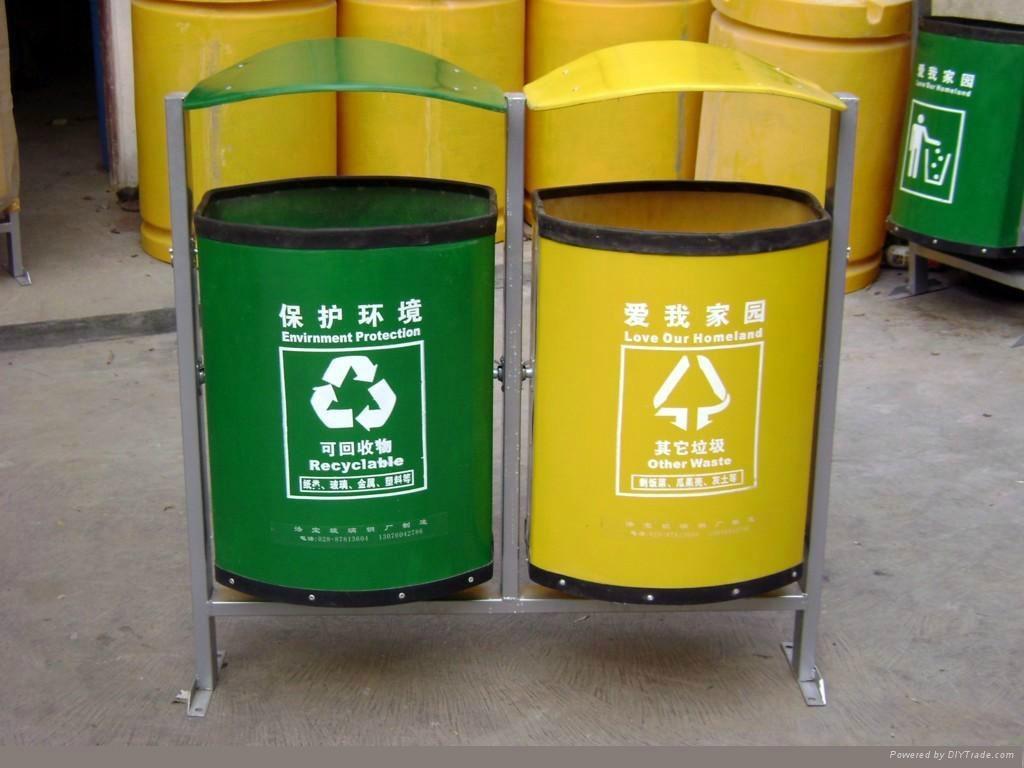 玻璃钢垃圾桶 1