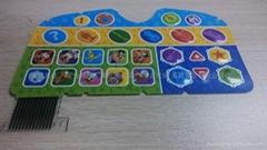 儿童玩具學習機按鍵觸控面板專用PP合成紙