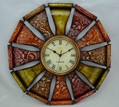 iron art wall clock