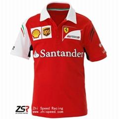 2014 F1 Scuderia Ferrari Team Shirt Fernando Alonso Kimi Raikkonen