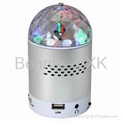 Portable LED Stage Light MP3 Speaker with FM radio, USB and Micro SD card slots