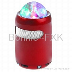Portable Stage Light Speaker with FM Radio, support TF/USB MP3 Music Play