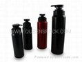 Round shampoo bottle with pump Q7981A