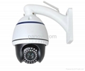 Wireless HD Network Mini High Speed PTZ Dome Cameras with 10X Optical Zoom 1