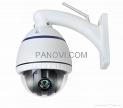 Wireless HD Network Mini High Speed PTZ Dome Cameras with 3X Optical Zoom Lens