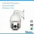 1.3 Megapixel IP HD PTZ Dome Camera IR