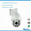 1.3 Megapixel IP HD PTZ Dome Camera IP66