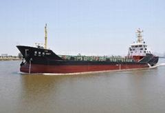 1000吨油船-主机烧重油