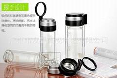 透明印字水杯 广告水杯 旅行便携玻璃杯水杯 价格实惠