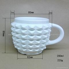 菠萝形状异性陶瓷水杯