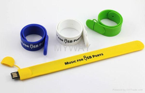 Silicone slap bracelet usb memory stick 8gb 3