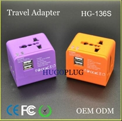 Worldwide travel adapter