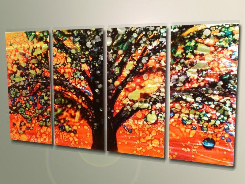 wholesale oil painting Aluminum plate painting body art van Gogh Monet flowers  1