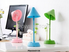 Plug-in the color lotus multi-function study desk LED lamp