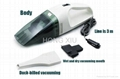 12V High-Power Wet and Dry Portable Handheld Car Vacuum Cleaner  1