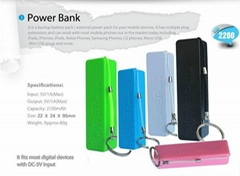 2600mah Portable External power bank for iphone 5 5s mobile phone charger