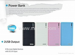 Wallet Style 20000mAh Power Bank Battery Charger with LCD Display for tablet pc