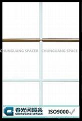 Decorative bar for IGU door and window