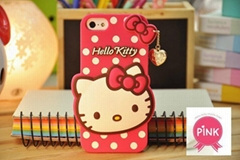 2014 New Cute Hello Kitty Soft Silicon Phone Case for iphone 4 4S 5 5S (Hot Product - 1*)