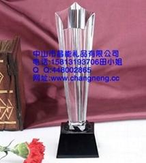 中山水晶奖杯