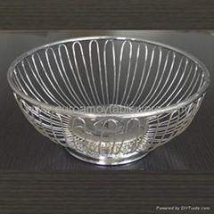 Iron Fruit Basket decorative wire metal fruit tray