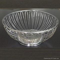 Iron Fruit Basket decorative wire metal fruit tray