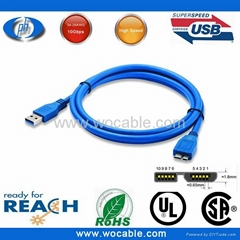 Micro B Micro USB 3.0 Cable with Male to Male