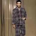 Coral fleece 100% polyester pajamas fabric cushion 2