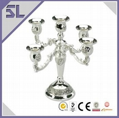 Elegant Candle Holder with Flower Engraving