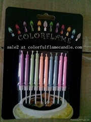 Wholesale colored flame birthday candle