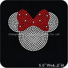 Minnie Mouse Rhinestone Transfers Motif Bling For T Shirts