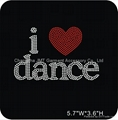 Wholesale I Love Dance Rhinestone Heat