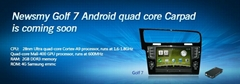 Quad core android os in dash  VW Golf 7 auto navigation system