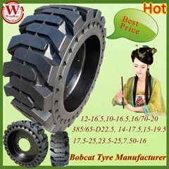 Skid Steer Solid Tires 10-16.5
