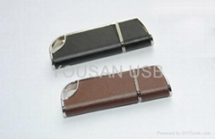 New coming leather usb flash drive