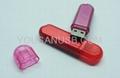 Transparent mini usb flash drive