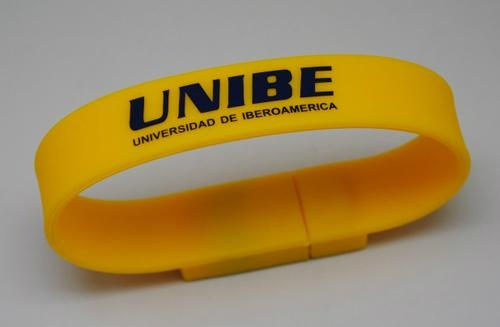 Silicon Bracelet usb flash drive with relief logo 3