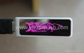 slide usb flash drive with colorful led light-emitting logo