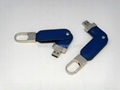 Fashion design leather usb with key
