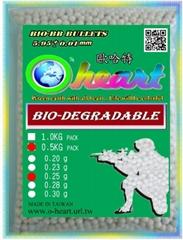 O-heart BB Bullets 0.25g(BB Bullets,Airsoft gun,Bio-BB,PLA)