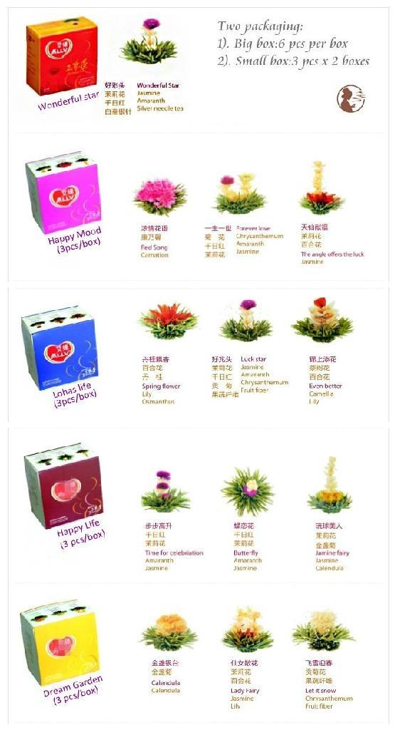 2014 gifts new blooming tea flowering tea 4