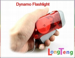 Hand Crank Squeeze Flashlight 3 LED Dynamo Flashlight Wind up Torch Light